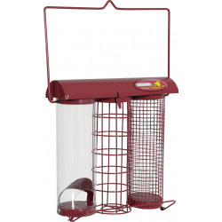 zolux ZO-170117 Garnet trio feeder. 20 x 9 x height 22.5 cm . for birds Outdoor feeders