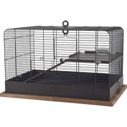 zolux Fernand retro cage. internal dimension 35 x 35 x 55 cm . for small rodents. Cage