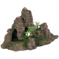 TR-8853 Trixie Escalera de roca con planta, 22 cm - decoración de acuario de peces Decoración y otros