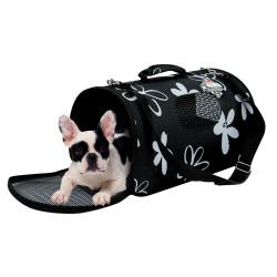 zolux Carry basket Flower. size L. color black. for cat or dog. transport bags