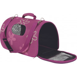 zolux Carry basket Flower. size L. plum color. for cat or dog. transport bags