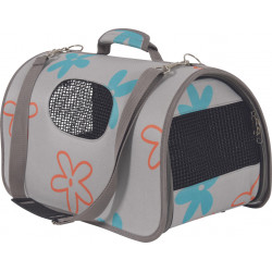 zolux Carry basket Flower. size L. grey colour. for cat or dog. transport bags