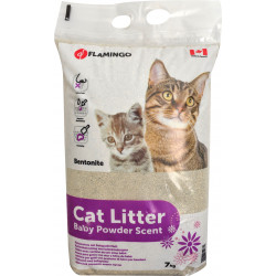 Flamingo Pet Products Super absorbent cat litter with talcum powder. Weight 7 kg. for cats. Litter