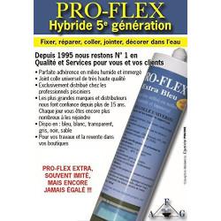 SC-AFG-670-0002 Pro-flex Adhesivo de masilla 310 ML Proflex Transparente - Reparación del revestimiento de la piscina Servici...