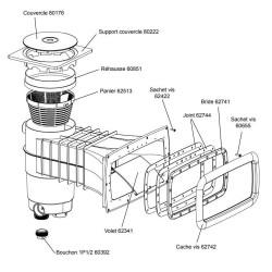 weltico sskimgmp skimmer weltico a400 elegance panneau liner - 93386 Parts to be sealed