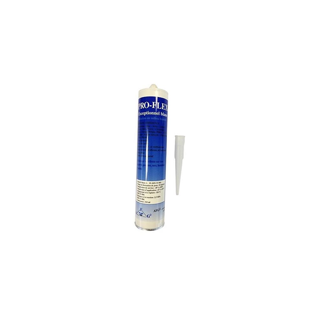 Colle Spéciale Piscine Pro-Flex Blanc 310 ml - Mastic Étanche Multifonction Pièces détachées S.A.V Pro-flex SPROFBL