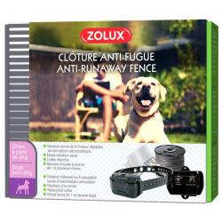 zolux Anti runaway fence for dogs. Adjustable collar: neck size of 55 cm maximum. dog training