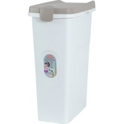 zolux hermetic plastic container of 40 litres. for dog or cat kibble. food accessory
