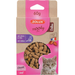 zolux ZO-582125 Anti hairball Mooky treat 60 g. for cats. Nourriture