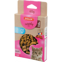 zolux ZO-582127 Mooky Dental Hygiene Treat 60 g. for cats. Nourriture