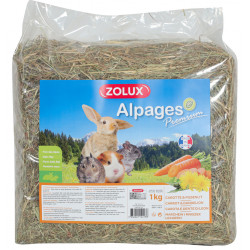 zolux Premium alpine hay. Carrot and dandelion. 1 kg. for rodents. Hay, litter, shavings