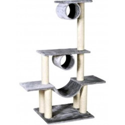 Flamingo Pet Products Cat tree Amedeo. color light grey. height 140 cm. for cat. Arbre a chat, griffoir