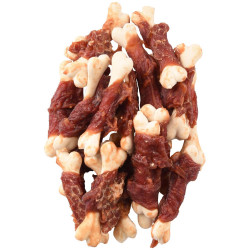 Flamingo Pet Products Calcium bone candy with duck. Hapki BBQ. for dog. 170 g. gluten free. Nourriture