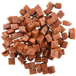 Flamingo Pet Products Candy cubes of salmon. Hapki BBQ. for cats . 85 g. gluten free. Nourriture