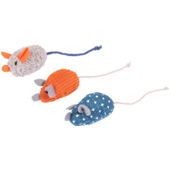 Flamingo katzenspielzeug. 3er-Set Floera-Mäuse .14 cm. mit Katzenminze. FL-561121 Spiele