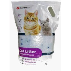 Flamingo Pet Products Litière silica . granules large. 5 litres. litière pour chat. Litiere