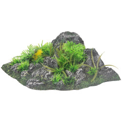 Flamingo FL-410350 Decoration condroz angle. rock + plant. 23 x 22 x 8.5 cm. aquarium. Reception