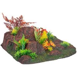 Flamingo Pet Products Decoration Radha angle. rock + plant. 27.5 x 27.5 x 10 cm. aquarium. Decoration and other