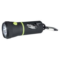 Lampe LED avec distributeur de sacs Collier et laisse Trixie TR-22834