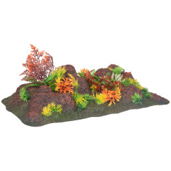 Flamingo Pet Products Dekoration Radha Viereck. Fels + Pflanze. 42.5 x 23 x 9,5 cm. Aquarium. FL-410357 Dekoration und Sonstiges