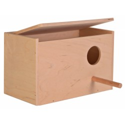 Caja nido para pericos 21 x 13 x 12 - ø 4 cm Jaulas, aviarios, Trixie TR-5630 caja nido