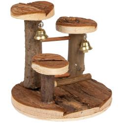 FL-210294 Flamingo Pet Products juegos de madera Elly. ø 15 cm x 14 cm. para roedores. Juegos, juguetes, actividades
