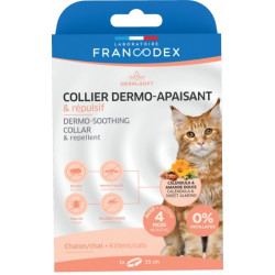 Francodex Dermo-soothing and Repellent Collar for Kittens and Cats ANTIPARASITAIRE