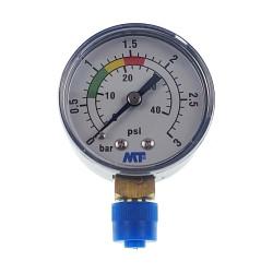 """Jardiboutique MT-Manometer mit roten und grünen Markierungen - ABS-Poolsandfilter-Manometer 3 bar - 1/4""""-Gewinde MANO-MT-001 ..."""