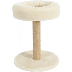zolux Cat tree 2 in 1. ø 35 cm x height 45 cm. color beige. for cats and kittens. Arbre a chat, griffoir