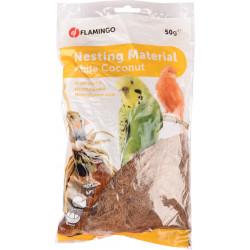 Flamingo Pet Products Kokosfaser 50 gr, Nistmaterial, für Vögel. FL-102154 Vogelnistprodukt