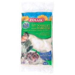 zolux Gemütliches Bett für Hamster. 25 gr. Beutel. weiße Farbe. ZO-206400 Betten, Hängematten, Nester