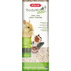 zolux Litter rodywood nature 16 liters. for rodents. weight 964 grams. Hay, litter, shavings