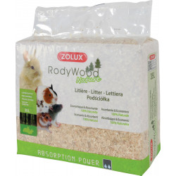 zolux Litter rodywood nature 35 liters. for rodents. weight 1.862 kg. Hay, litter, shavings