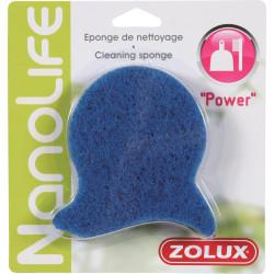 zolux Power-Reinigungsschwamm. für Aquarien. Farbe blau. ZO-376025 Wartung, Aquarienreinigung