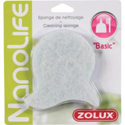 zolux Reinigungsschwamm Basic. für Aquarien. Farbe weiß. ZO-376026 Wartung, Aquarienreinigung