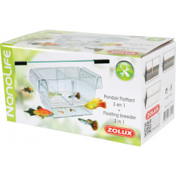 zolux 3 in 1 floating fishpond. size : 21 x 10 x 10 cm. for aquarium. Health, fish care, fish care