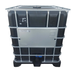 Jardiboutique a black IBC 1000 litres on plastic pallet for water reserve (no delivery in Corsica or island) ibc tank
