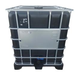 Jardiboutique einen schwarzen IBC 1000 Liter auf Kunststoffpalette für die Wasserreserve (keine Lieferung auf Korsika oder In...