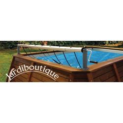 Aluminium Haspel voor bovengrondse zwembaden tot 5,5m kokido SC-KOK-700-0149 Haspel en dekzeil