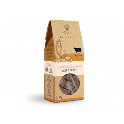 FANTAIL Cereal and gluten free beef treat 70 g for dogs Nourriture