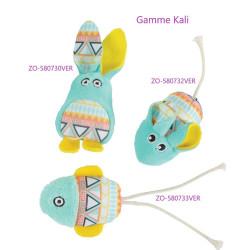 zolux Kali green fish. Size 15 x 6 cm. with catnip. Cat toy Games