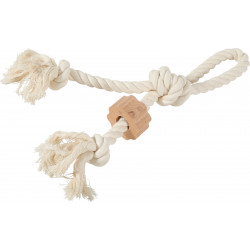 zolux Wild handle rope. size ø 1.5 cm x 37 cm. dog toy. Jeux cordes pour chien