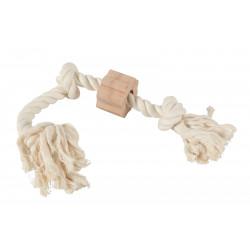 zolux Wild rope 3 knots. size ø 2 cm x 51 cm. dog toy. Jeux cordes pour chien