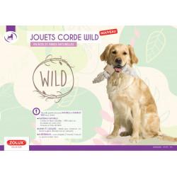 zolux Wild Giant rope 2 knots. size ø 3 cm x 50 cm. dog toy. Jeux cordes pour chien