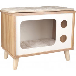 Flamingo Pet Products Fino TV stand for cats. size 50 x 29 x 41 cm. for cats. Sleeping