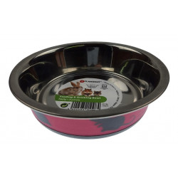 Flamingo Pet Products Nelly bowl. size ø12.3 cm, 225 ml. colour fuchsia. for rodents. Bowls, distributors