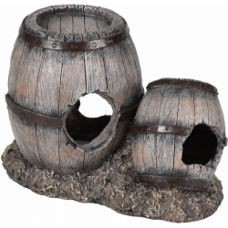 Decoration aquarium barrel aquarium right 15 x 9 x 10 cm Decoration and other Flamingo FL-410142