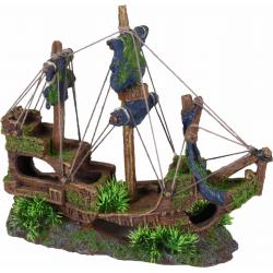 Decoração aquário Moza barco naufragado 3 mastros 31 x 11 x 27 cm FL-410151 Decoração e outros