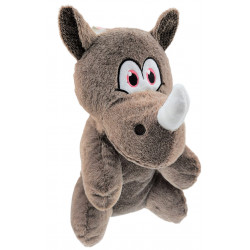 Flamingo Pet Products Henny Rhino plush toy, taupe color. 40 cm high. Peluche pour chien
