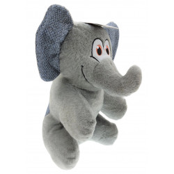 Flamingo Pet Products Henny Elephant plush grey color. height 38 cm. dog toy. Peluche pour chien